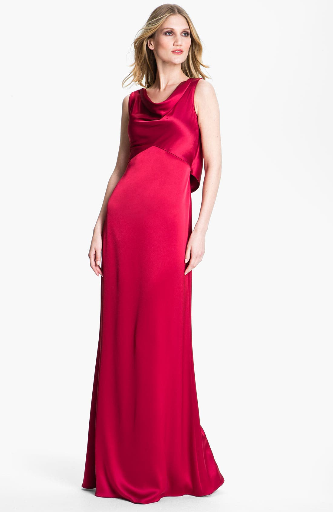 Main Image - St. John Collection Liquid Satin Gown