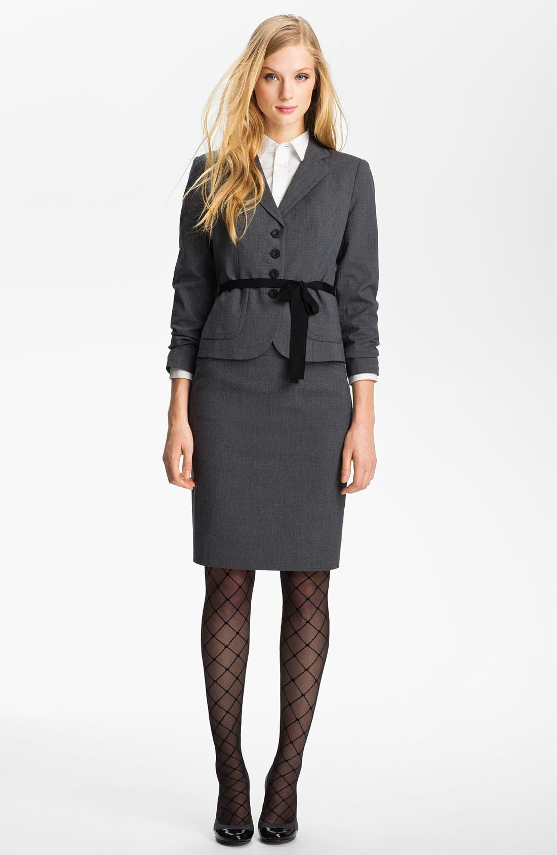 Alternate Image 4  - Halogen® Micro Texture Pencil Skirt