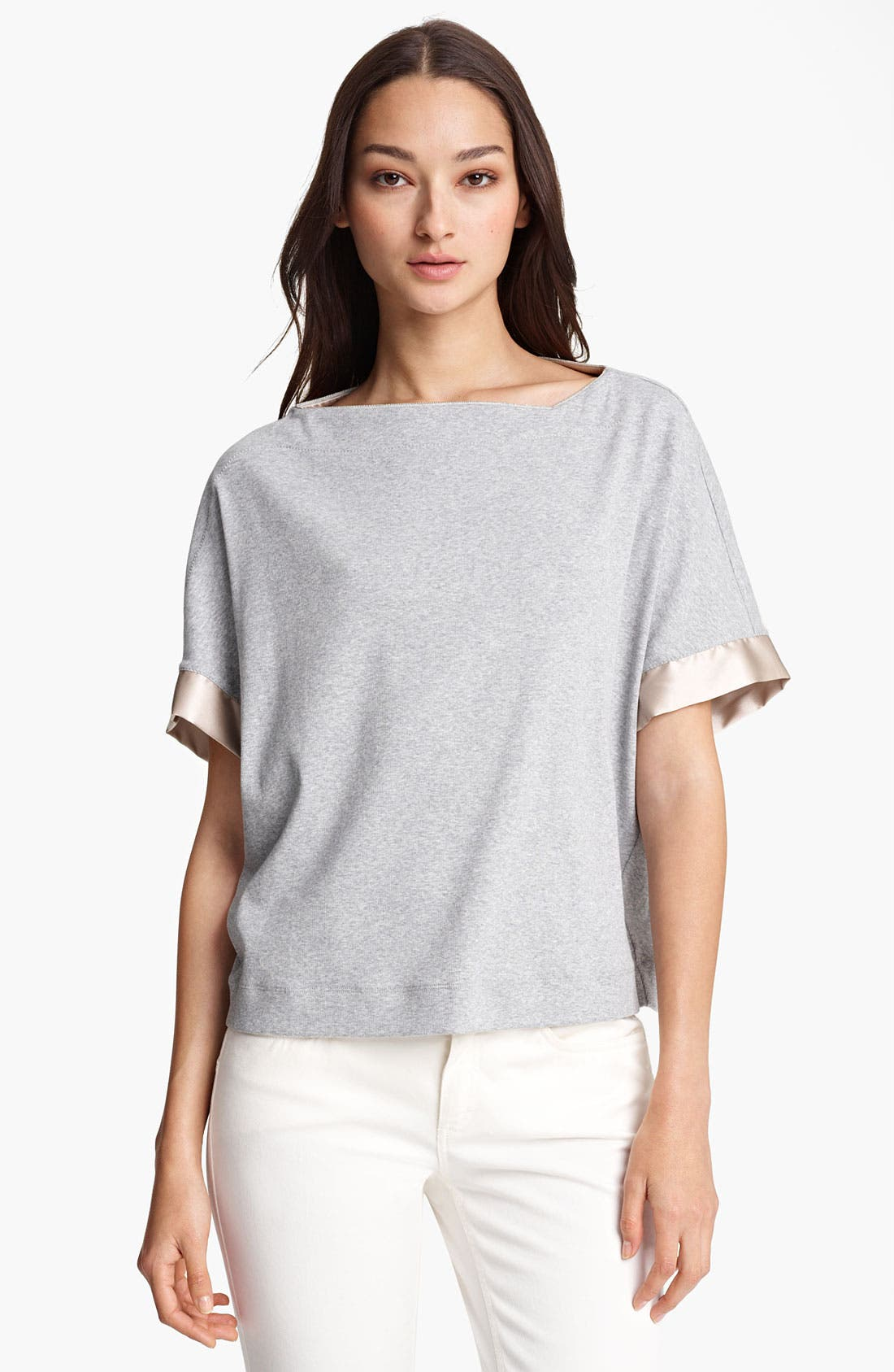 Alternate Image 1 Selected - Fabiana Filippi Rib Knit Jersey Top