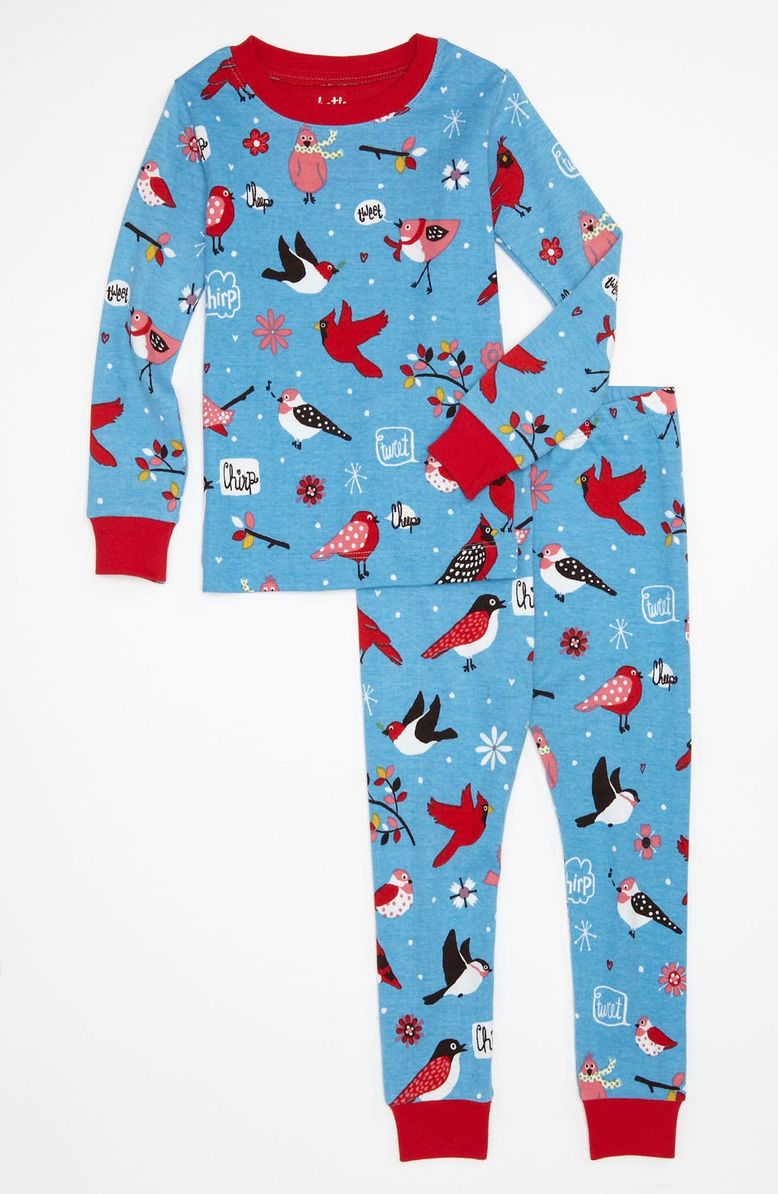 Alternate Image 1 Selected - Hatley Two Piece Fitted Pajamas (Toddler)