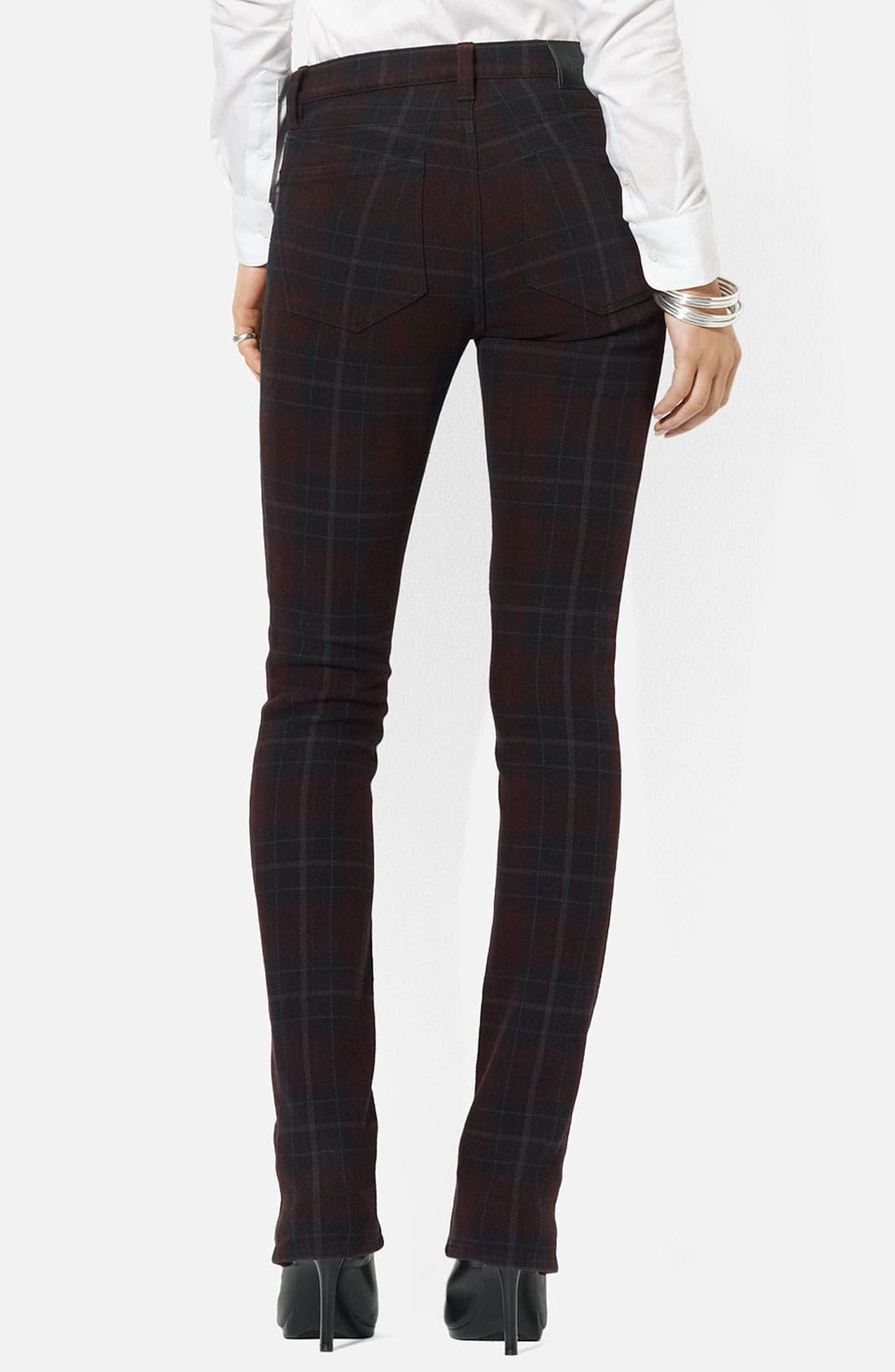 Alternate Image 2  - Lauren Ralph Lauren Straight Leg Plaid Pants (Petite)