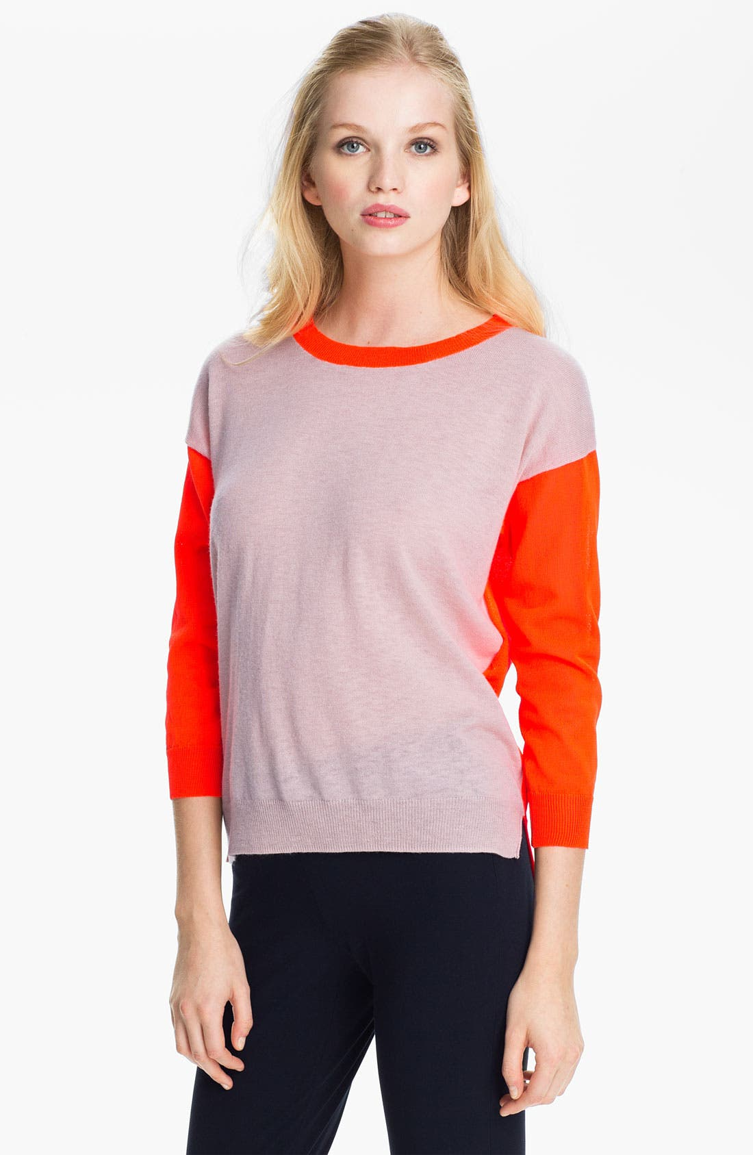 Alternate Image 1 Selected - Rebecca Taylor Colorblock Sweater