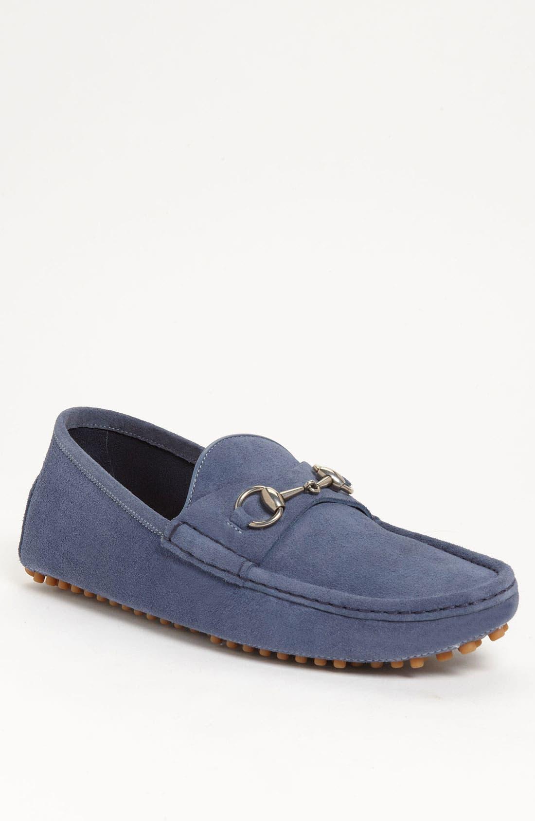 Main Image - Gucci 'Damo' Suede Driving Shoe
