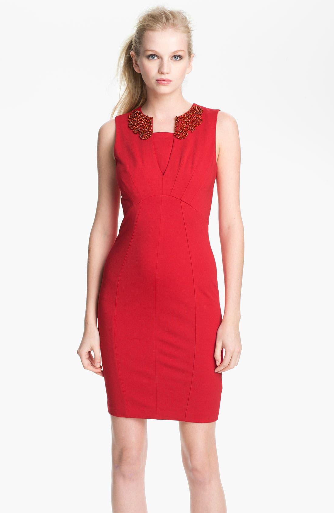 Alternate Image 1 Selected - Ted Baker London 'Edella' Embellished Sheath Dress