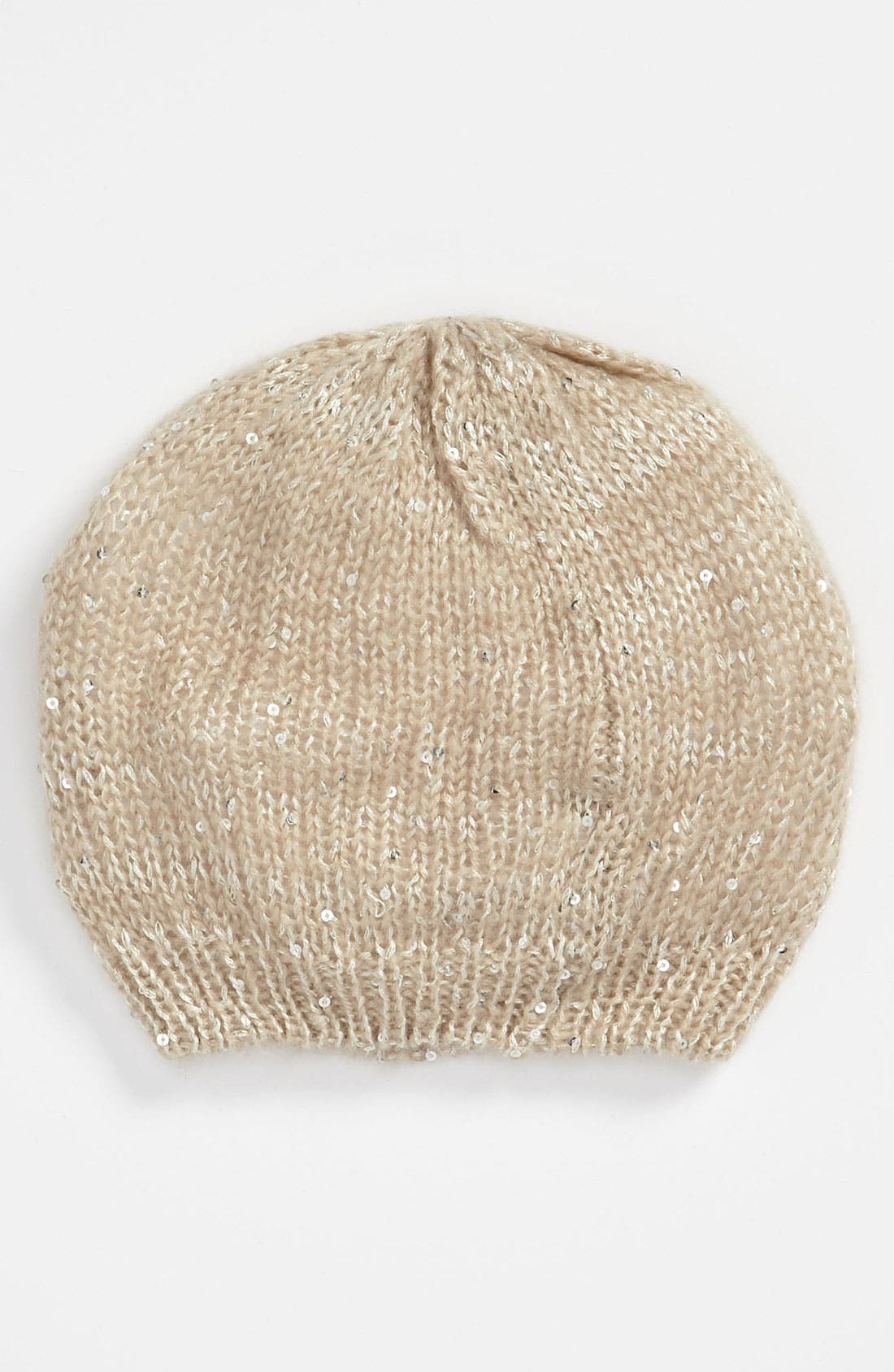 Main Image - Ruby & Bloom Sequin Slouchy Beanie (Big Girls)