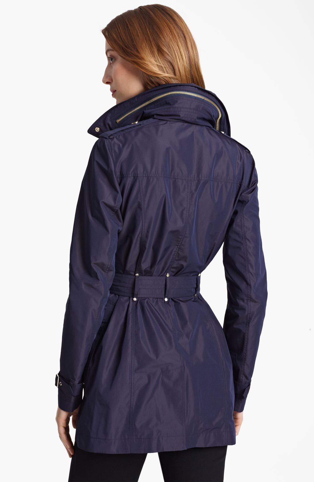 Alternate Image 2  - Burberry London Asymmetrical Taffeta Trench Coat