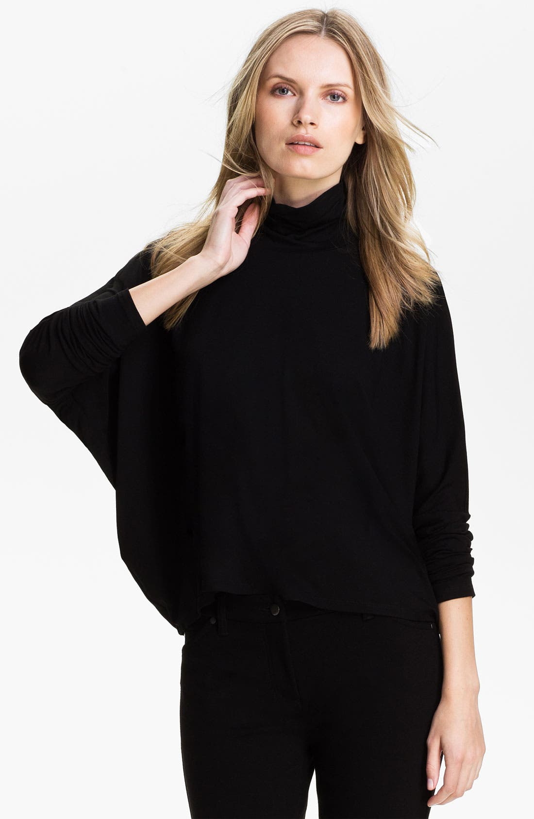 Alternate Image 1 Selected - Eileen Fisher Scrunch Neck Boxy Top (Online Exclusive)