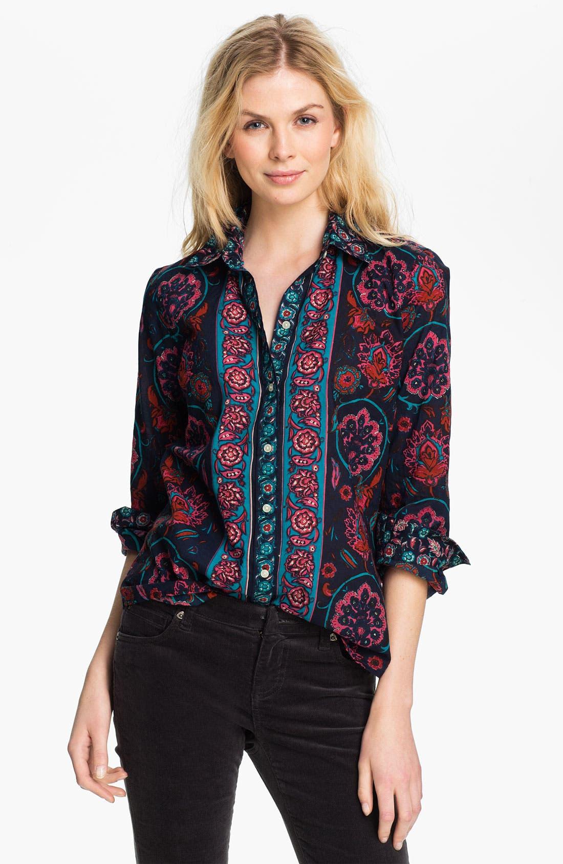 Alternate Image 1 Selected - Lucky Brand 'Joan' Scarf Shirt