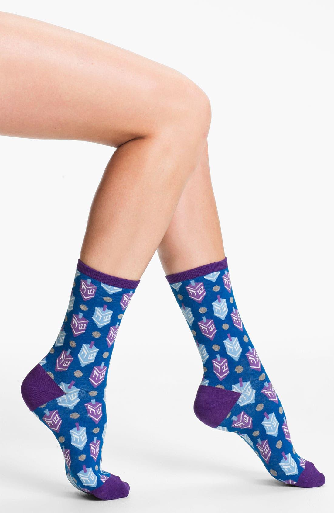 Alternate Image 1 Selected - Hot Sox 'Hanukkah' Socks