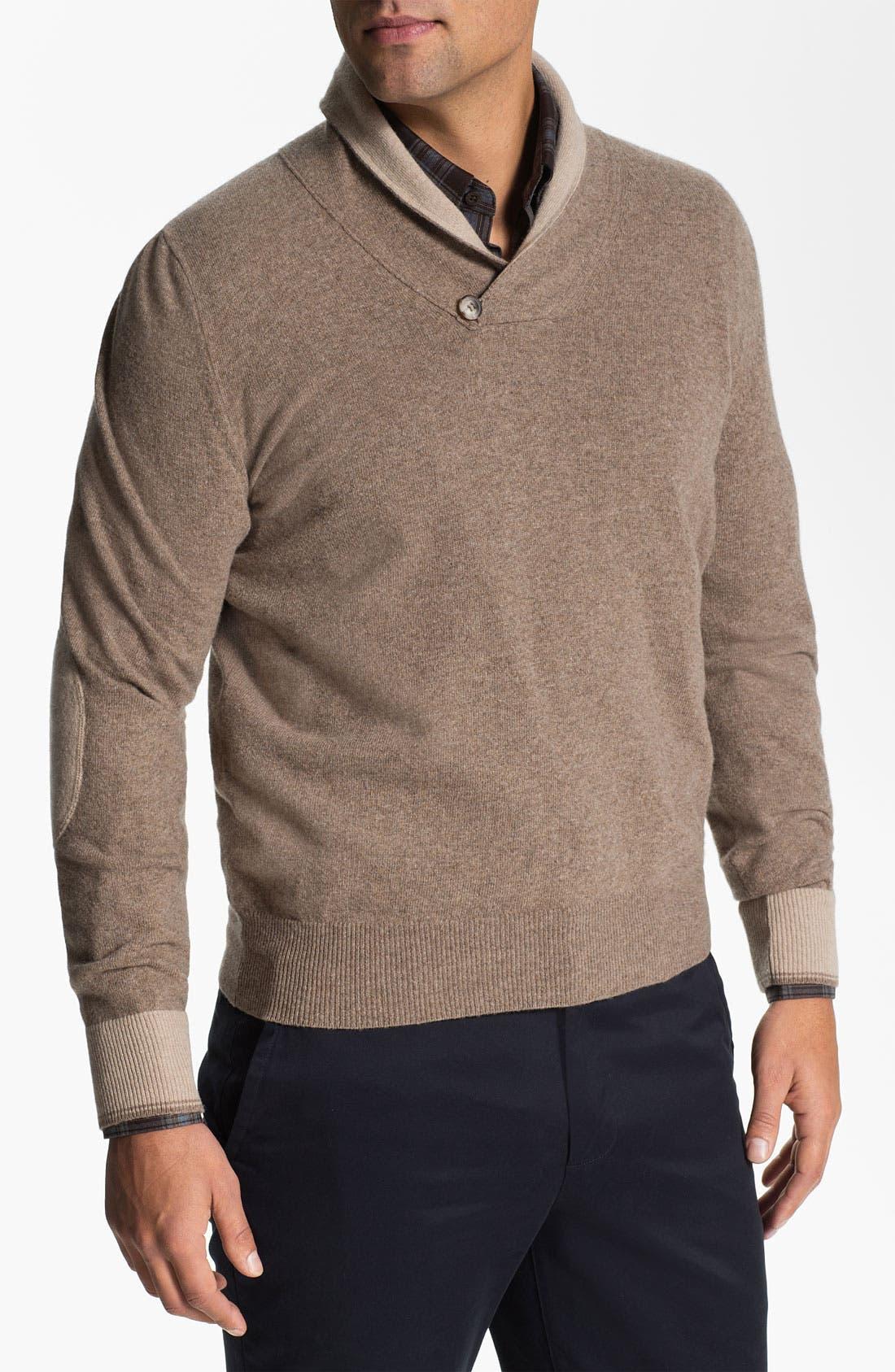 Alternate Image 1 Selected - Orlandini Shawl Collar Wool & Cashmere Sweater