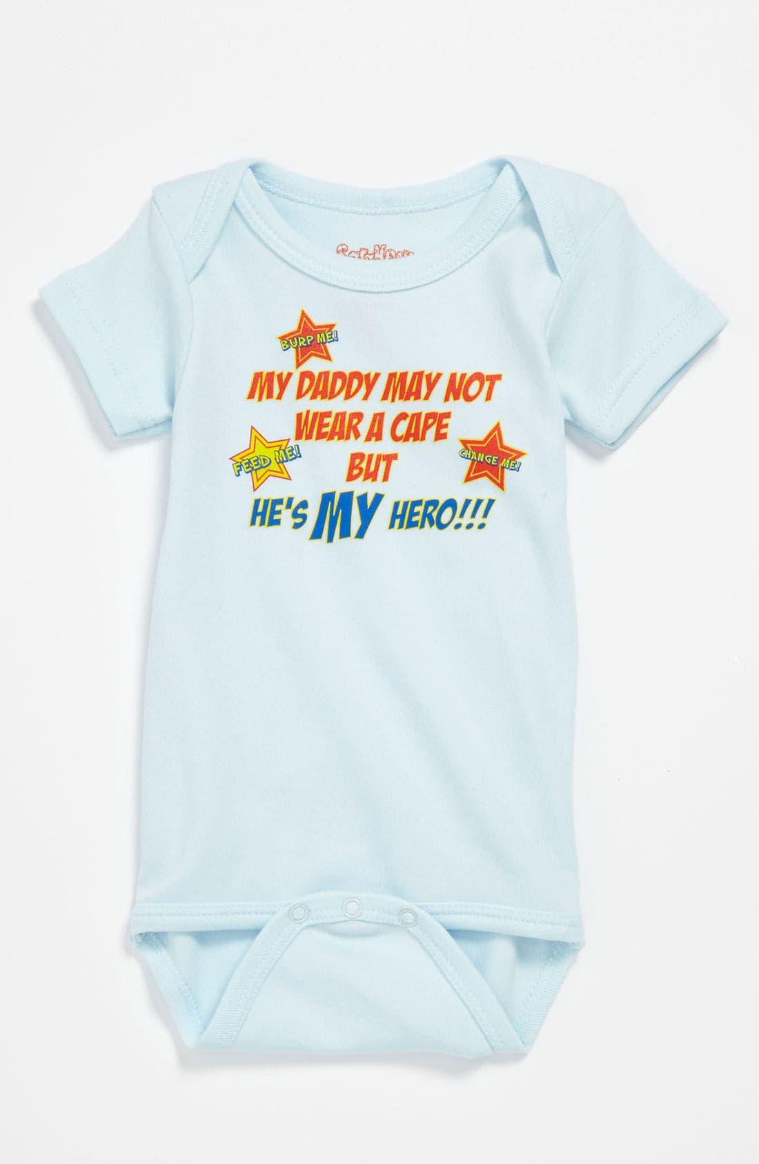 Alternate Image 1 Selected - Sara Kety Baby & Kids 'Daddy Hero' Bodysuit (Infant)