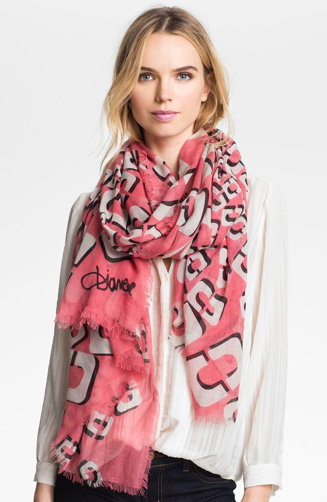 Alternate Image 1 Selected - Diane von Furstenberg 'Hanover' Wool & Silk Scarf