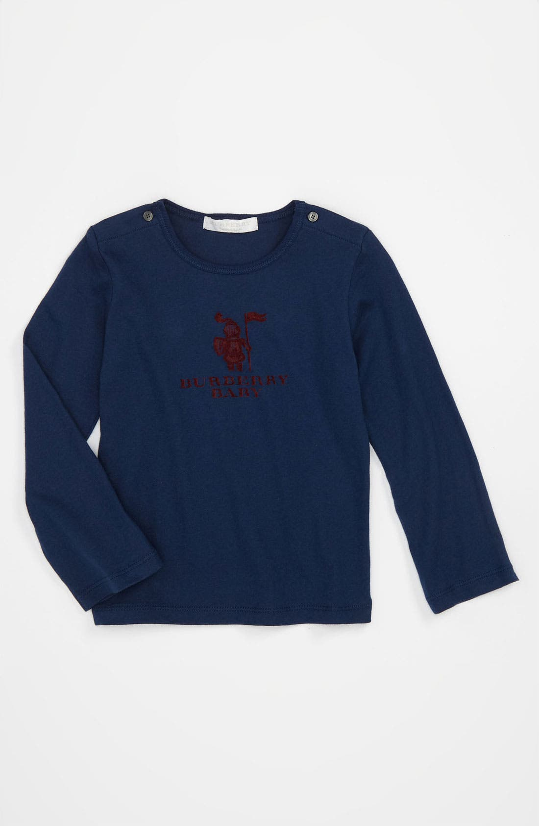 Main Image - Burberry Long Sleeve T-Shirt (Infant)