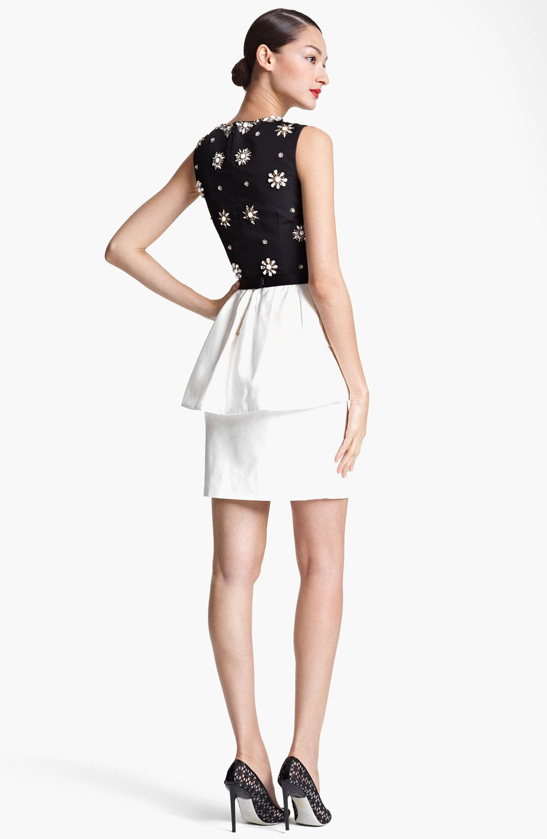 Alternate Image 2  - Jason Wu Embroidered Peplum Sheath Dress