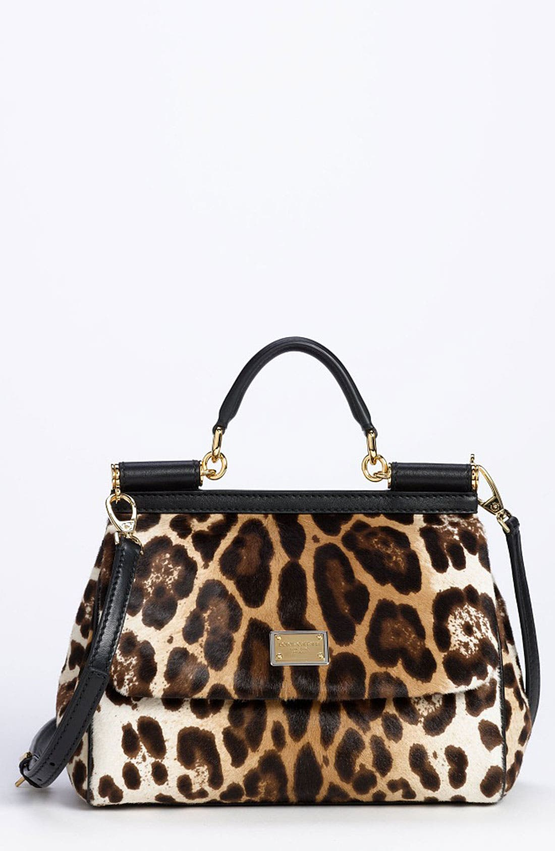 Main Image - Dolce&Gabbana 'Miss Sicily' Genuine Calf Hair Satchel