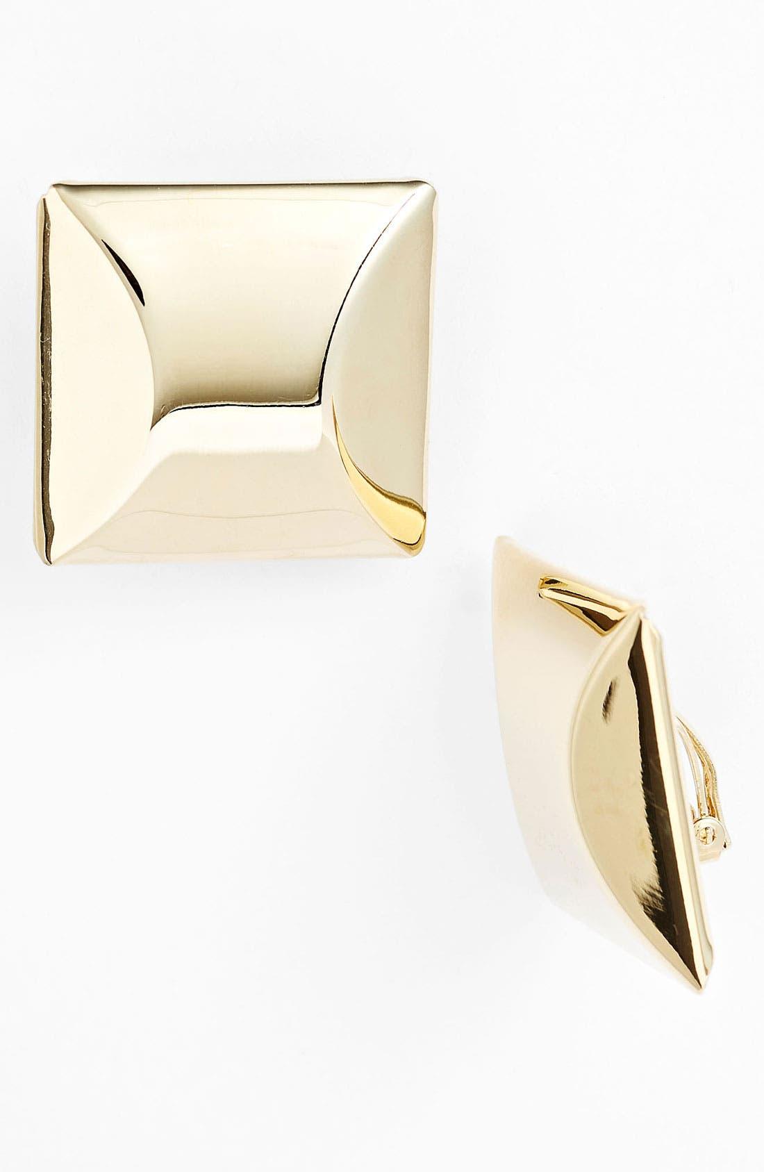 Alternate Image 1 Selected - Adia Kibur Square Clip Earrings