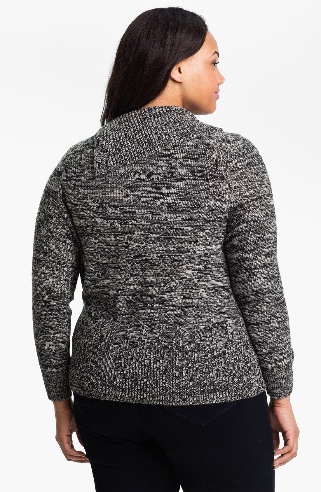 Alternate Image 2  - Sejour Button Turtleneck Sweater (Plus)