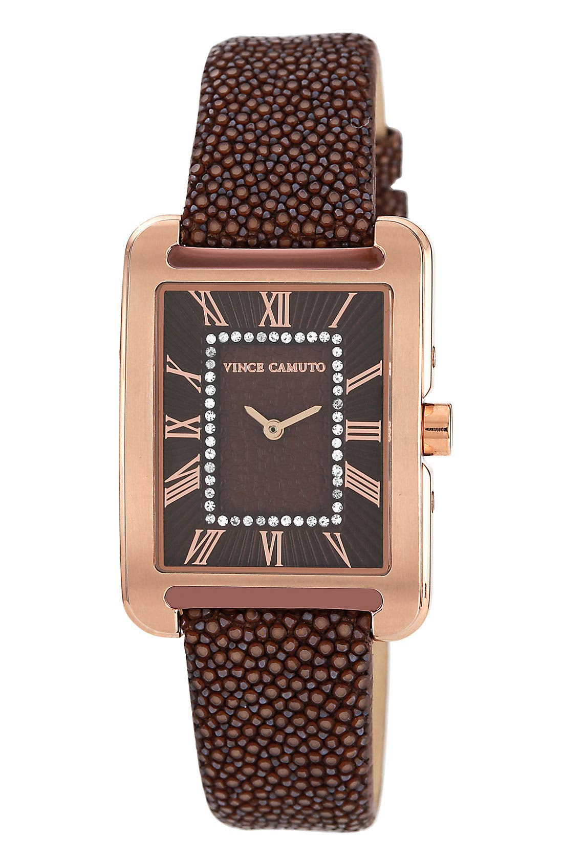 Main Image - Vince Camuto Stingray Print Dial & Embossed Strap Watch, 29mm x 34mm