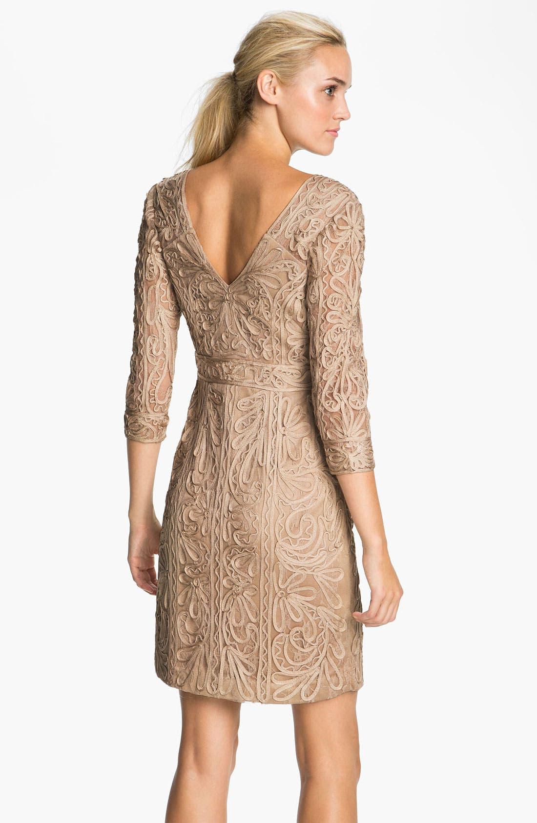 Alternate Image 2  - Sue Wong Double-V Embroidered Sheath Dress