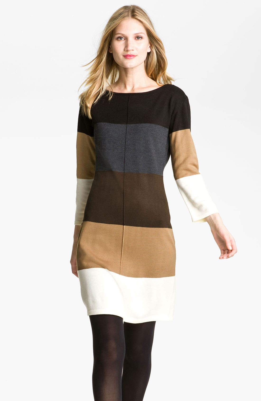 Alternate Image 1 Selected - Calvin Klein Colorblock Sweater Dress
