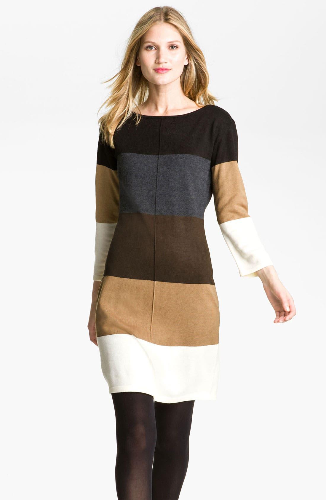 Main Image - Calvin Klein Colorblock Sweater Dress