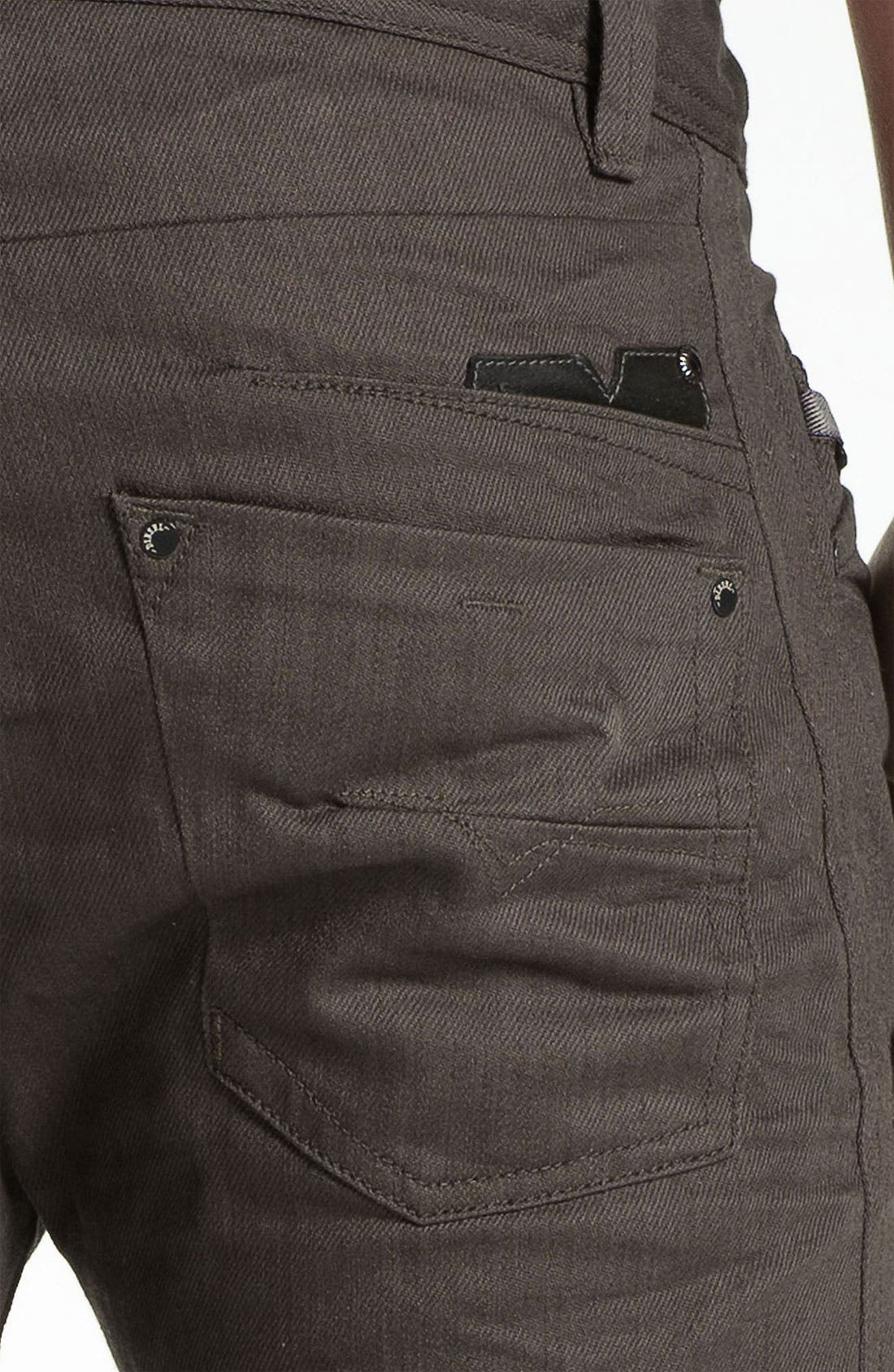 Alternate Image 4  - DIESEL® 'Darron' Slim Tapered Leg Jeans (Deep Black)