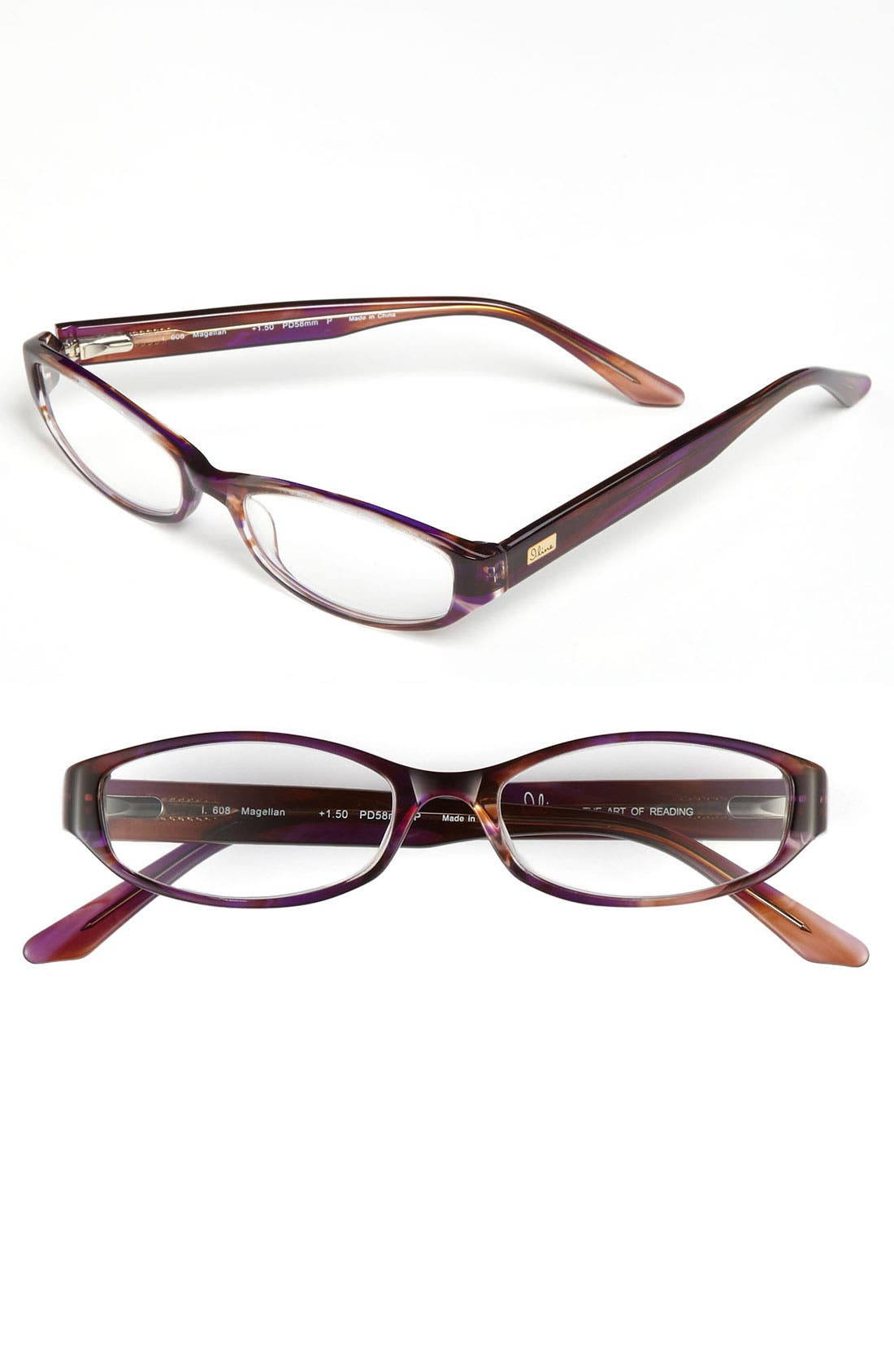 Alternate Image 1 Selected - I Line Eyewear 'Magellan' Reading Glasses