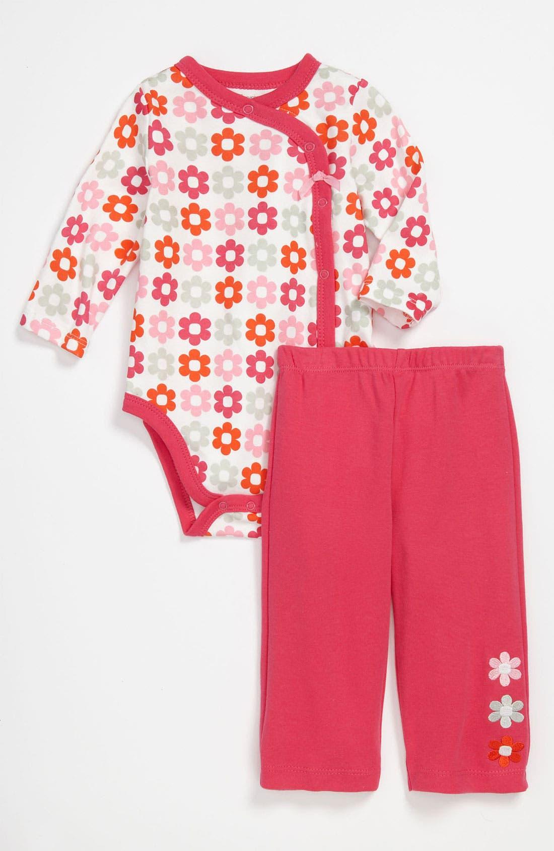 Alternate Image 1 Selected - Offspring 'Daisy' Bodysuit & Pants (Infant)