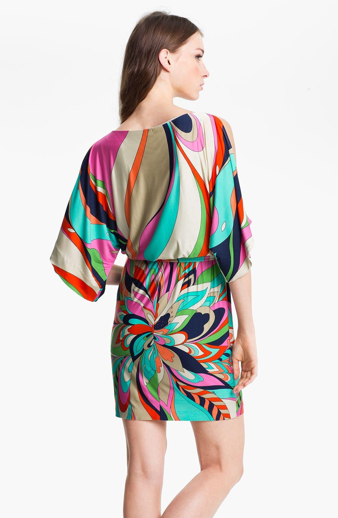 Alternate Image 2  - Trina Turk 'Berenice' Print Split Sleeve Jersey Dress