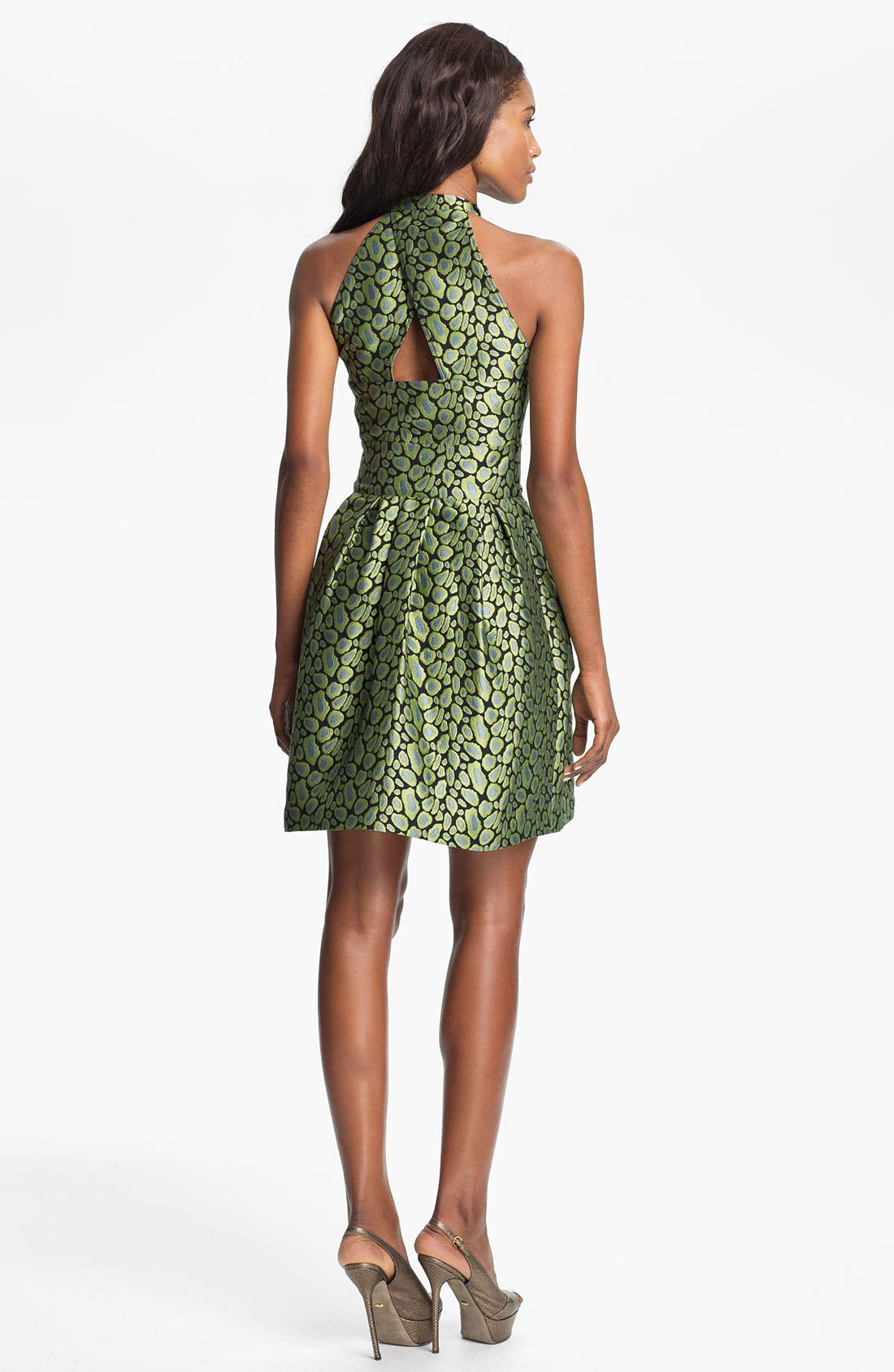 Alternate Image 2  - KENZO Clouded Leopard Jacquard Halter Dress