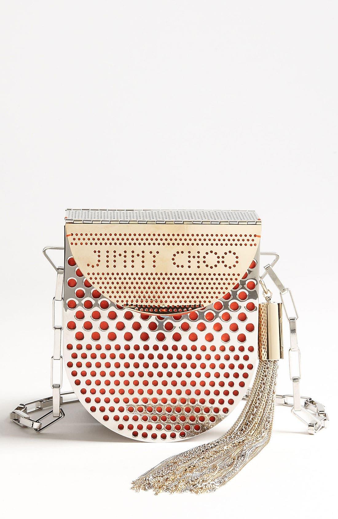Alternate Image 1 Selected - Jimmy Choo 'Milla' Metal Crossbody Bag
