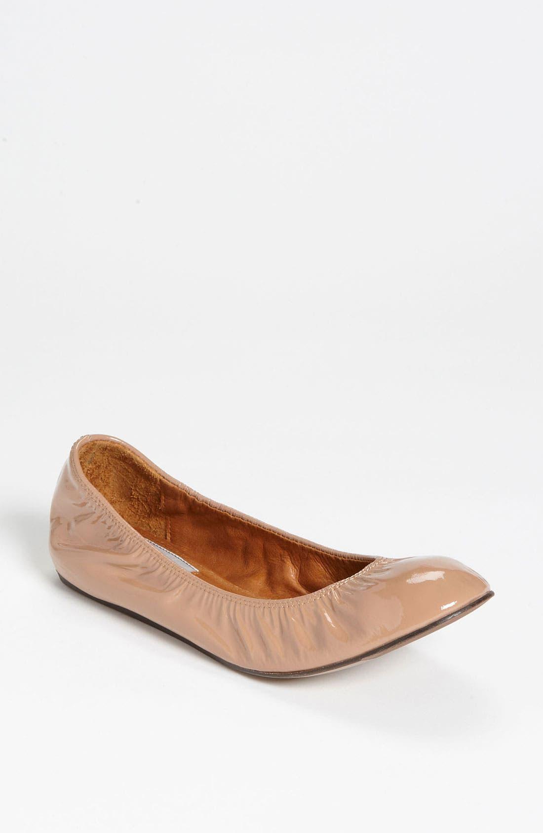 Alternate Image 1 Selected - Lanvin Patent Ballerina Flat