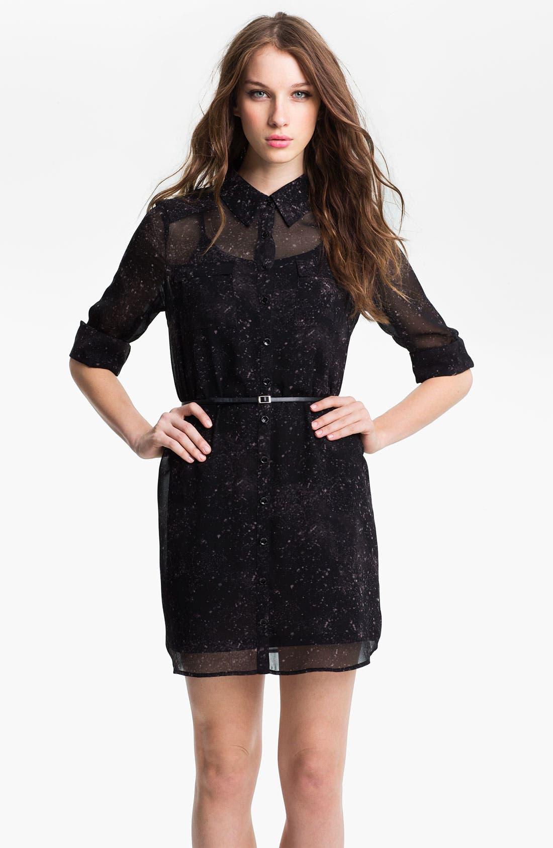 Main Image - Kensie Sheer Two Pocket Shirtdress