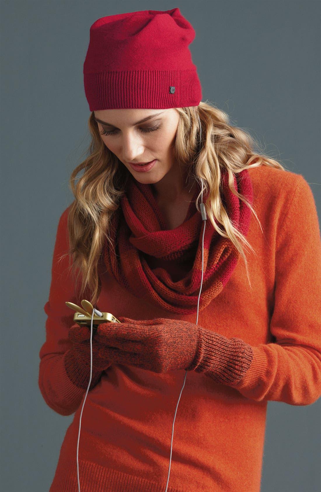 Alternate Image 2  - U|R Long Knit Tech Gloves