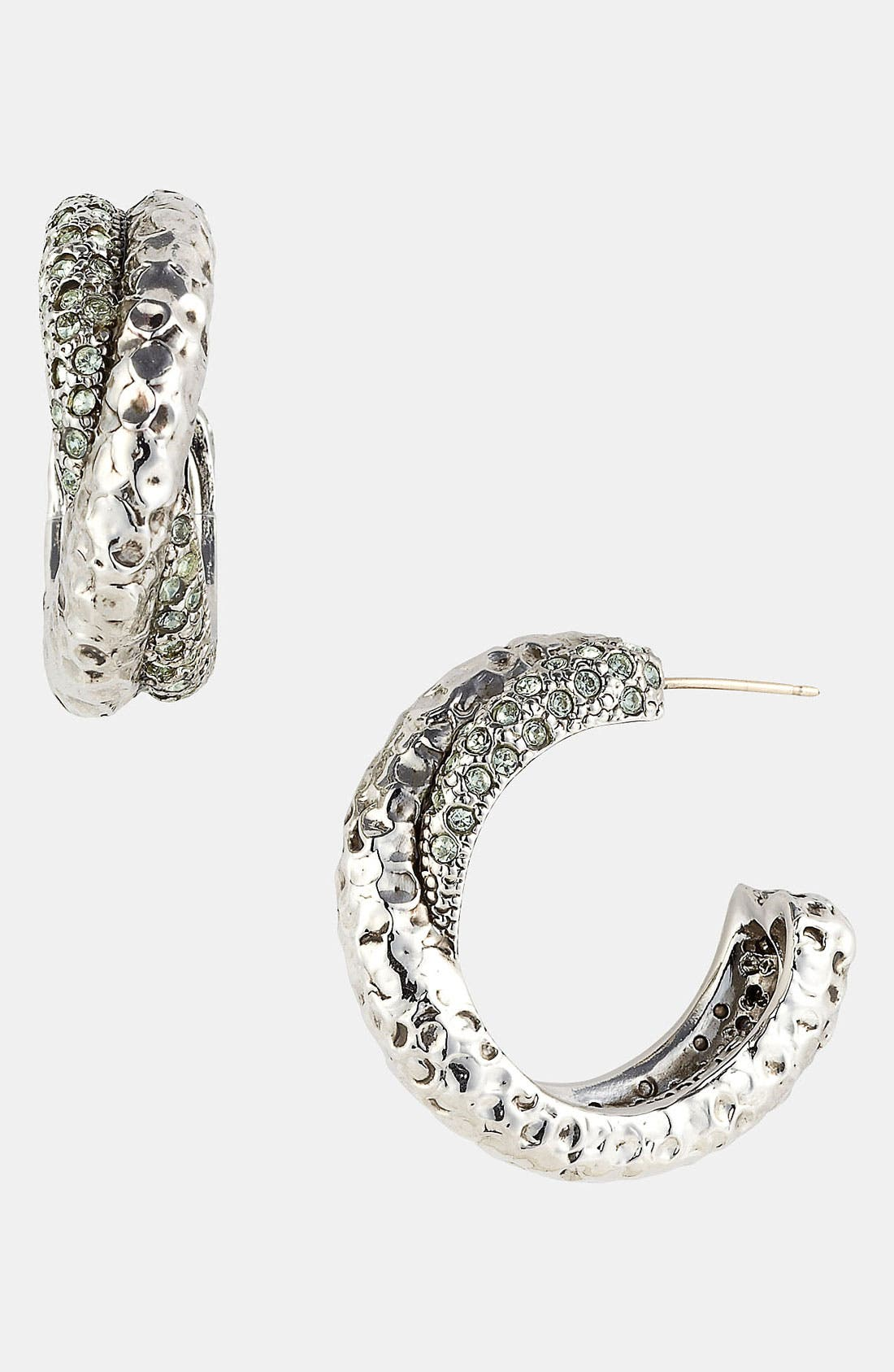 Alternate Image 1 Selected - St. John Collection Swarovski Crystal Hoop Earrings