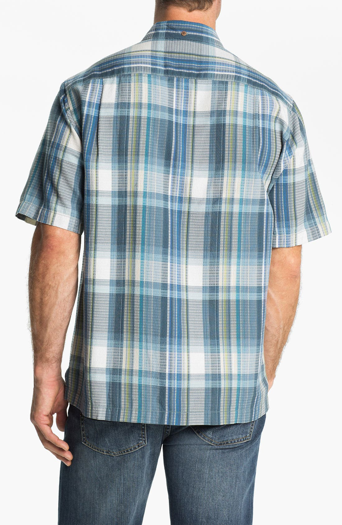 Alternate Image 2  - Tommy Bahama 'Sand Plaid' Silk Campshirt