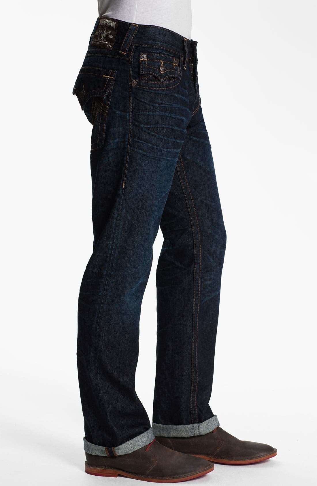Alternate Image 3  - True Religion Brand Jeans 'Ricky' Straight Leg Jeans (Overland) (Online Exclusive)