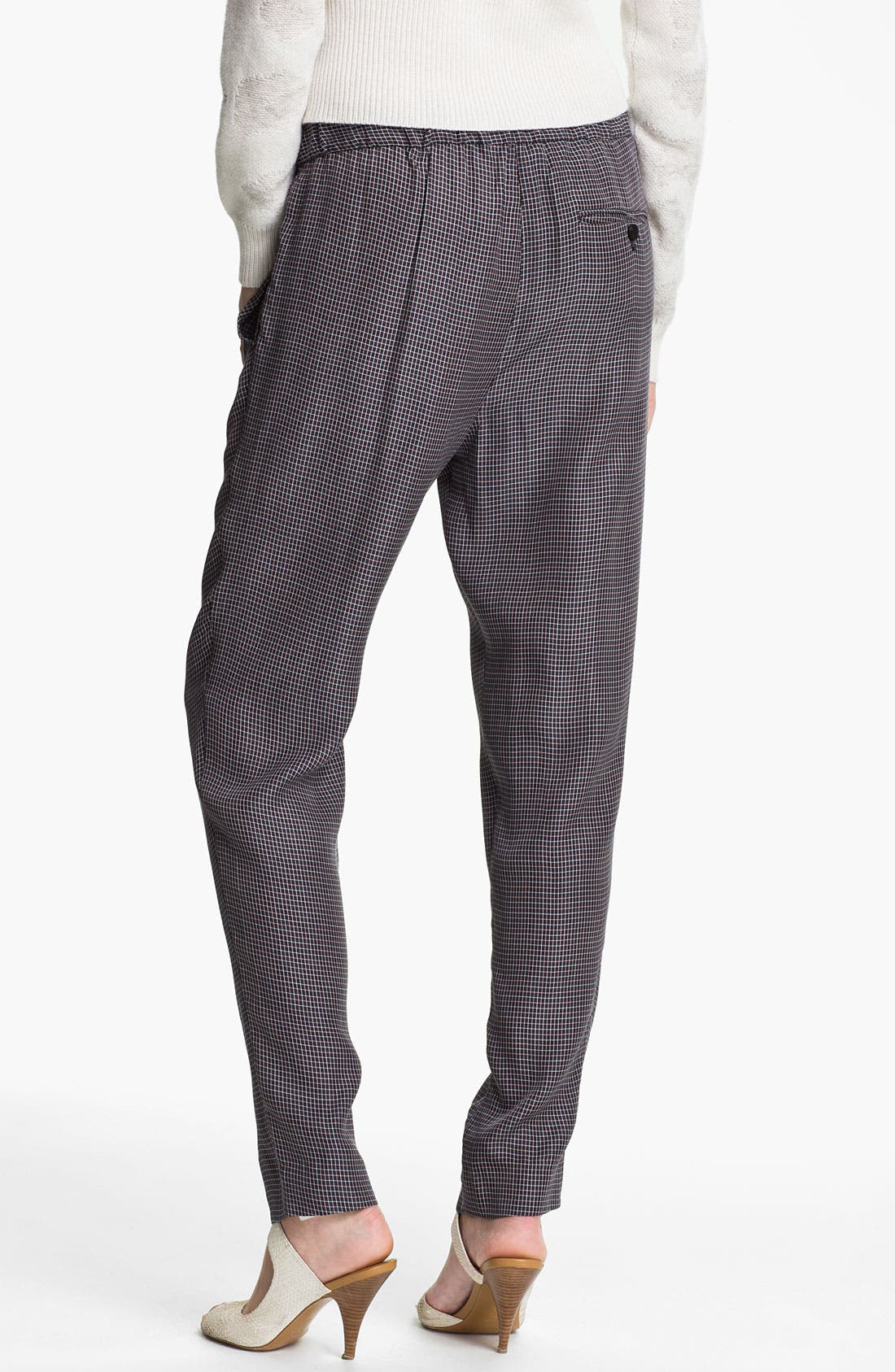 Alternate Image 2  - 3.1 Phillip Lim Check Print Draped Trousers