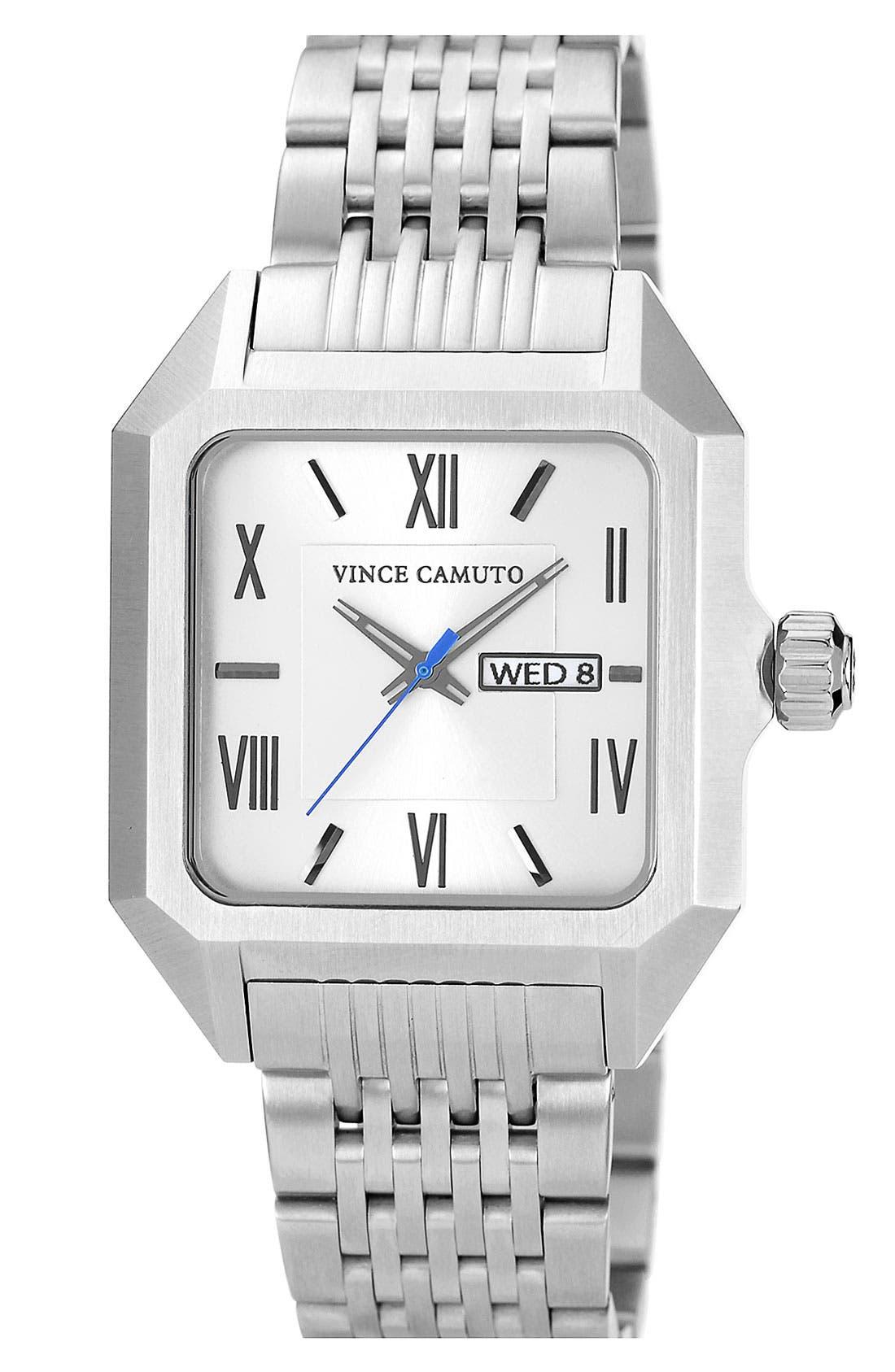 Main Image - Vince Camuto Square Dial Bracelet Watch, 39mm