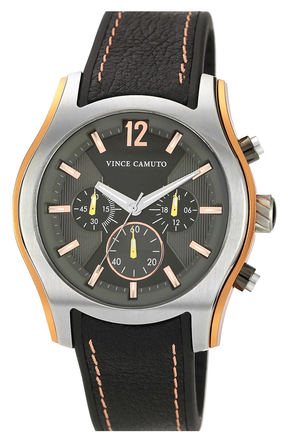 Main Image - Vince Camuto Aluminum Accent Chronograph Watch, 44mm