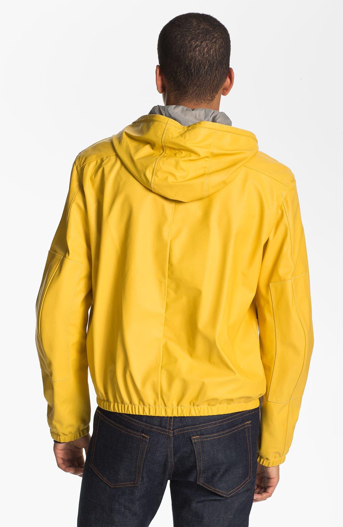 Alternate Image 2  - Jil Sander Lambskin Leather Hooded Jacket