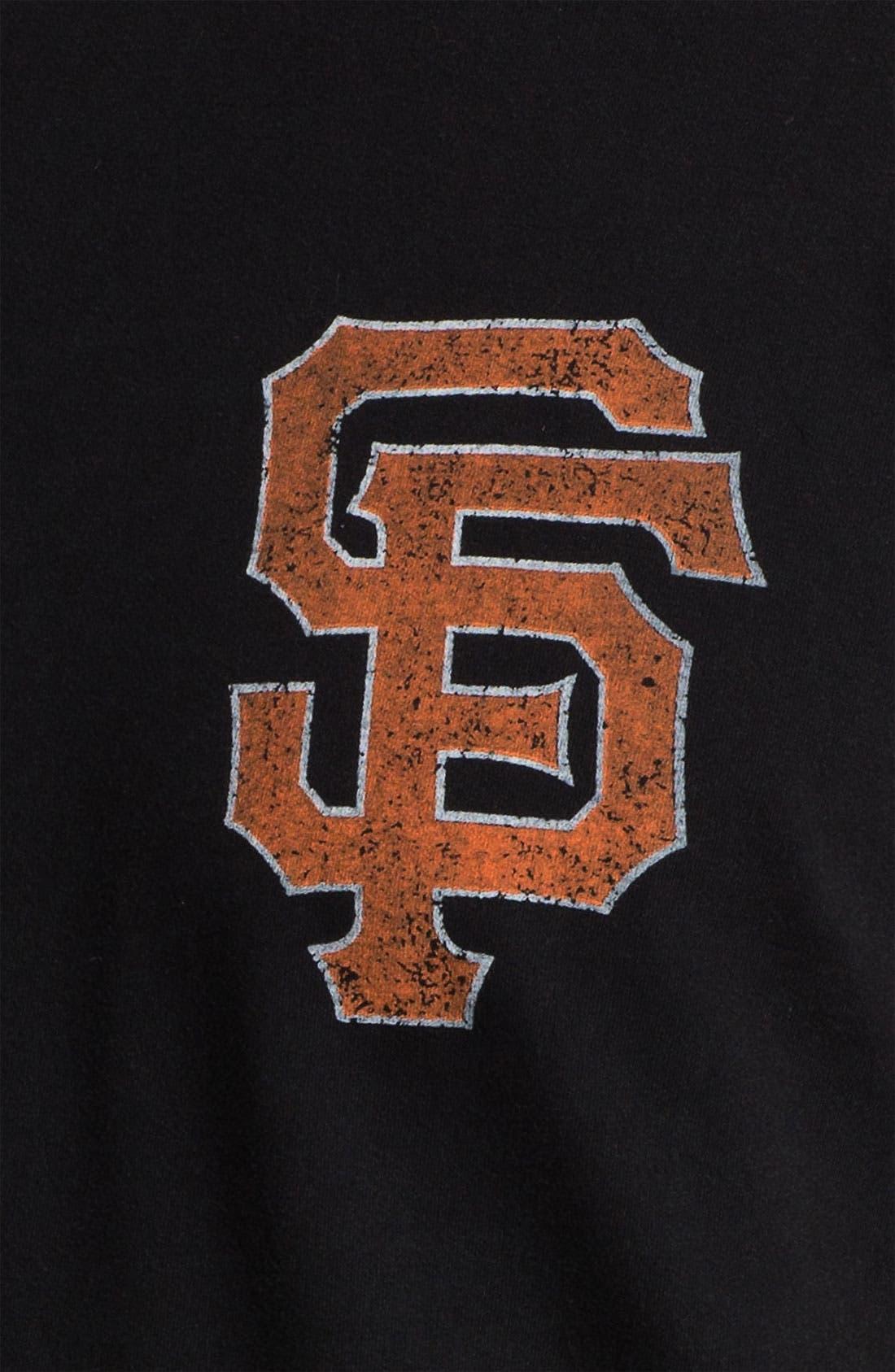 Alternate Image 3  - Red Jacket 'San Francisco Giants' Trim Fit Ringer T-Shirt (Men)