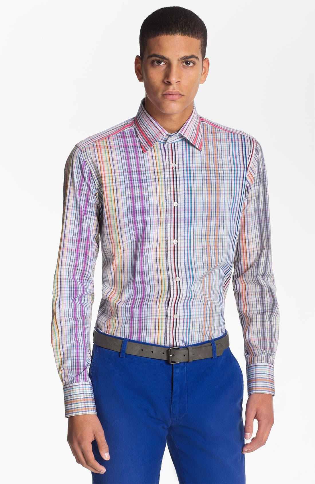 Main Image - Etro 'Camicia New Ippolito' Plaid Cotton Shirt