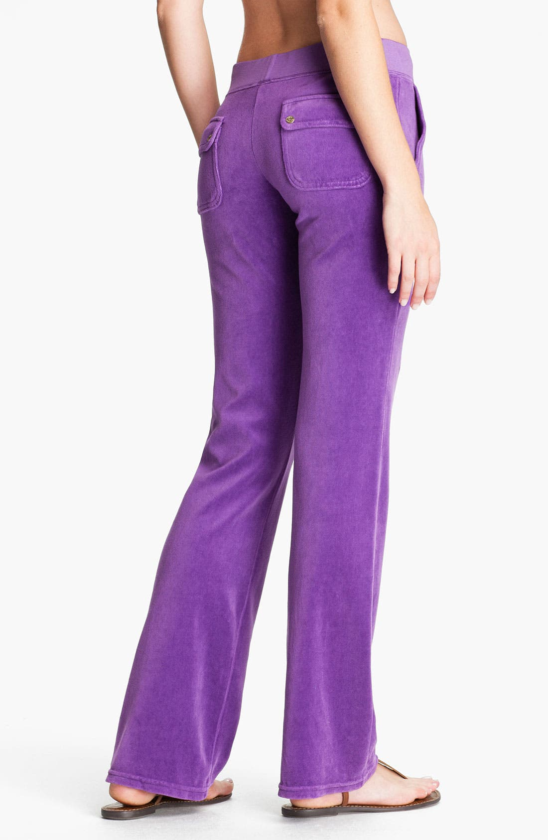 Alternate Image 2  - Juicy Couture Velour Pocket Pants