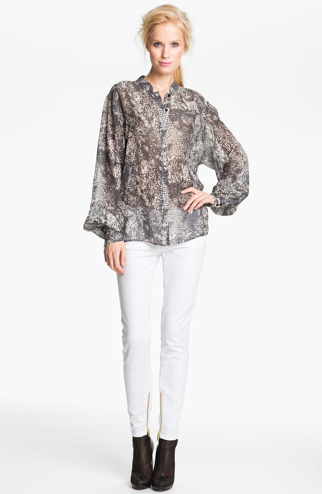 Alternate Image 3  - Rachel Zoe 'Miley' Snake Print Dolman Sleeve Blouse