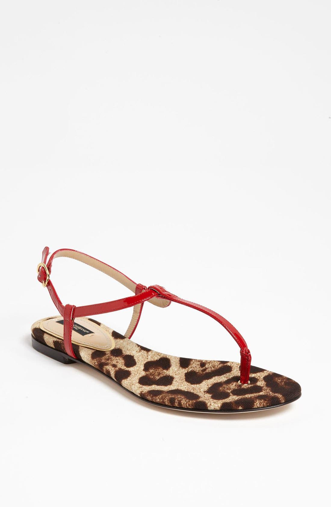 Alternate Image 1 Selected - Dolce&Gabbana T-Strap Sandal