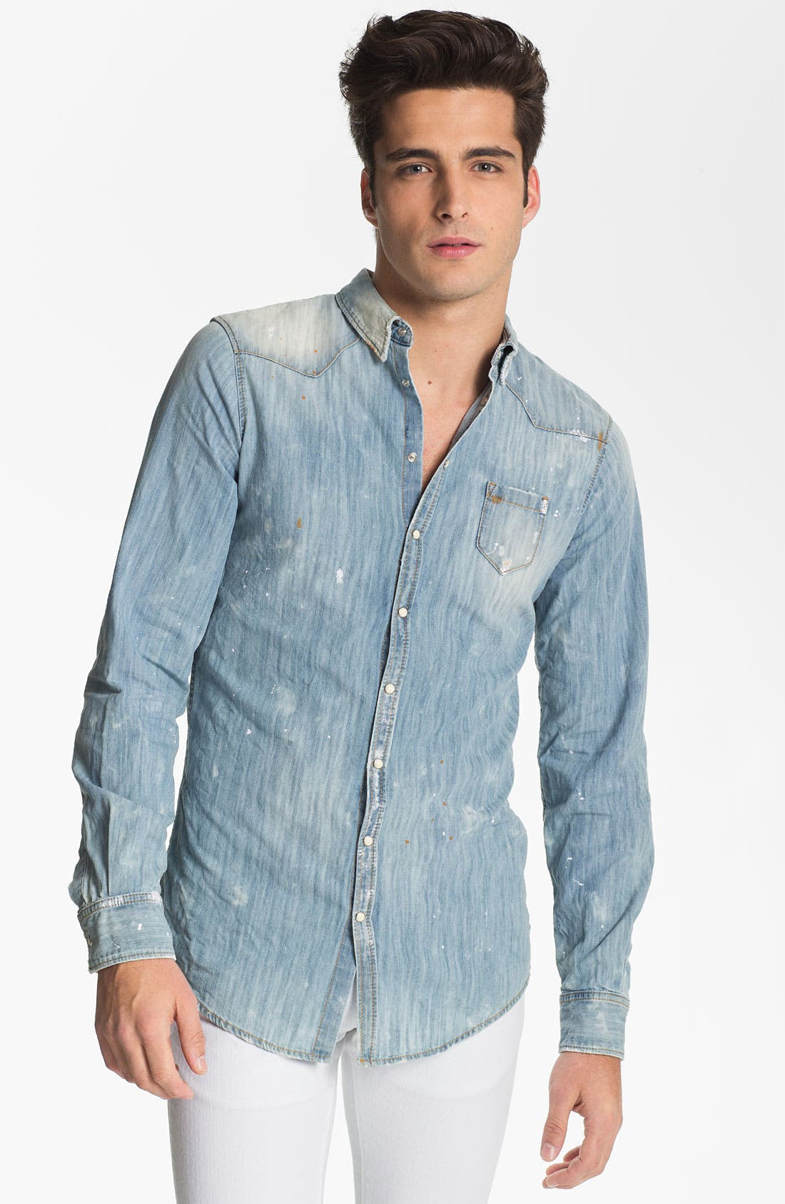 Alternate Image 1 Selected - Dsquared2 Washed Chambray Shirt
