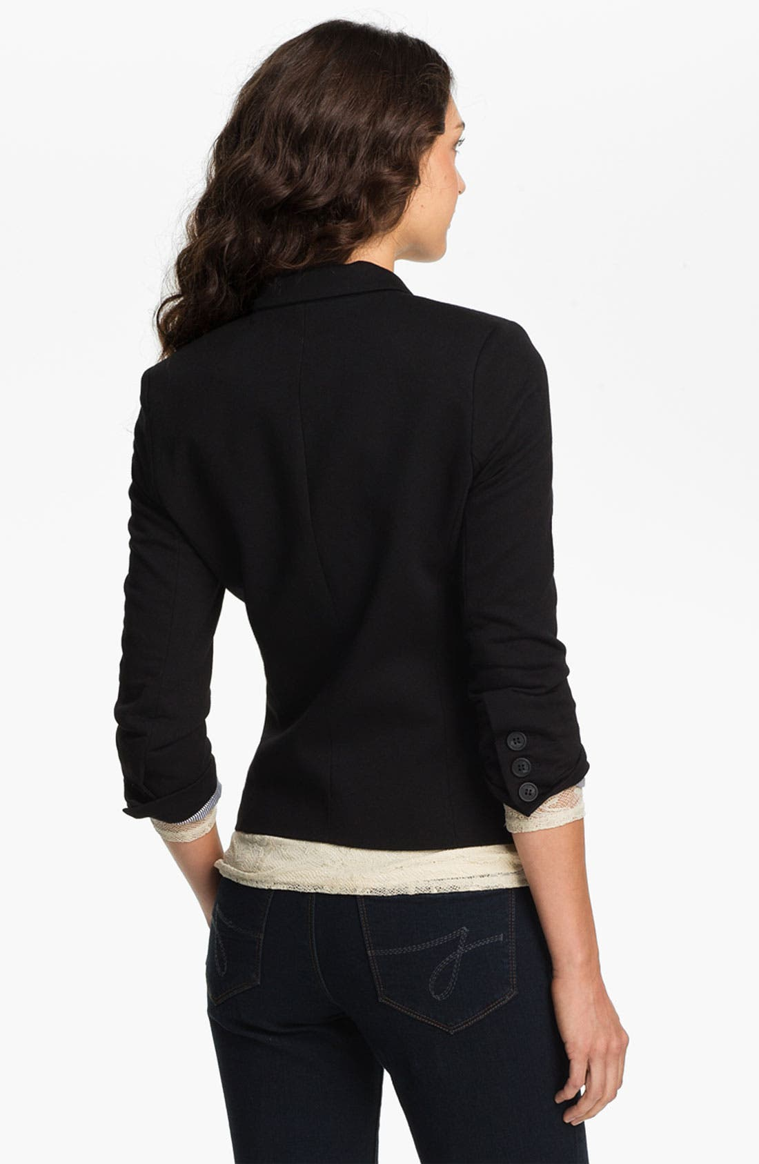 Alternate Image 2  - Gibson Knit Blazer (Petite)