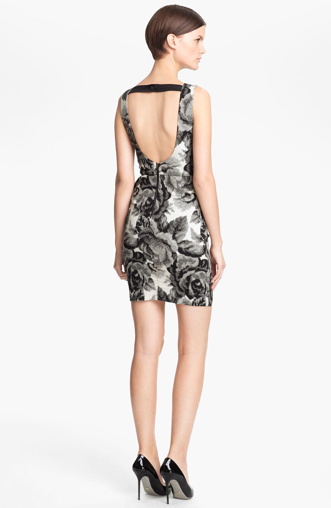 Alternate Image 2  - Alice + Olivia 'Lorena' Rose Print Dress