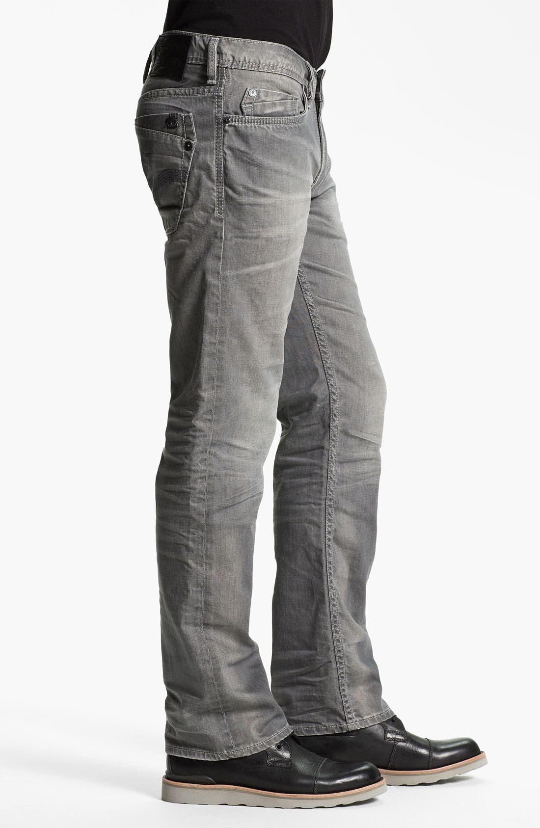 Alternate Image 3  - Buffalo Jeans 'Driven' Straight Leg Jeans (Aged/Torn)